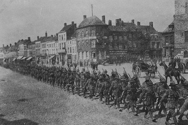 men-marching