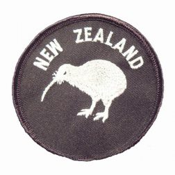 NZ Kiwi Round Cloth Patch