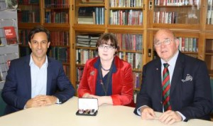 From left Matt Sale, Public Trust, Liz Mildon, Asst Curator Heraldry and Col (Rtd) Ray Seymour