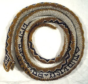 1992.677 Beaded Snake, Trench Art, WWI